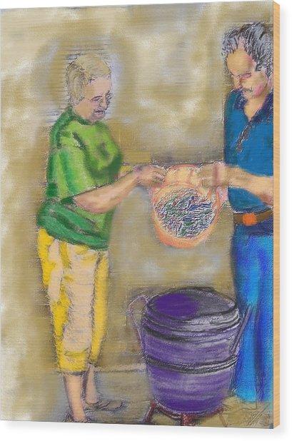 01252015 Boiling Louisiana Blue Crabs Wood Print