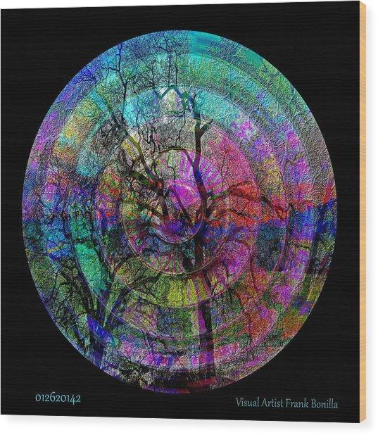Wood Print featuring the digital art #012620142 by Visual Artist Frank Bonilla