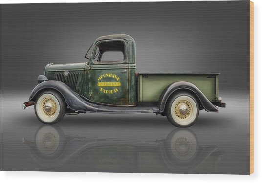 1935 Ford Pickup - Moonshine Express Wood Print