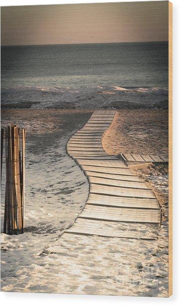 0160 Evanston Boardwalk Wood Print