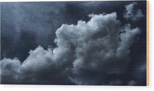 02152015 Water Color Storm Brewing Wood Print