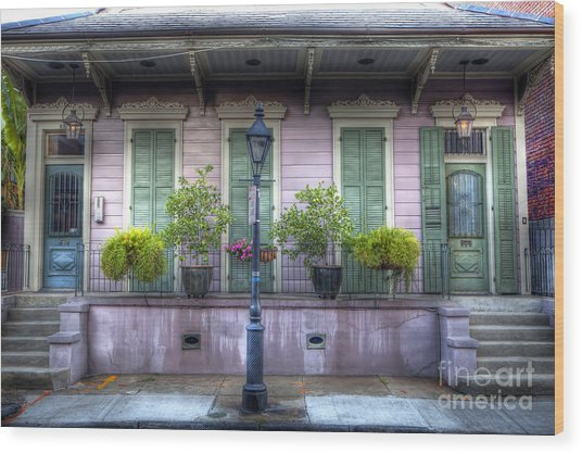 0267 French Quarter 5 - New Orleans Wood Print
