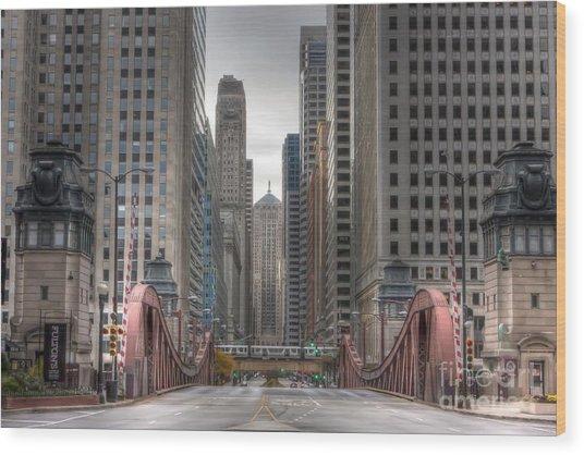 0295 Lasalle Street Chicago Wood Print
