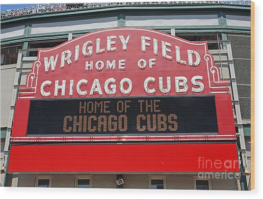0334 Wrigley Field Wood Print