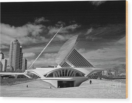 0352 Milwaukee Art Museum Infrared Wood Print