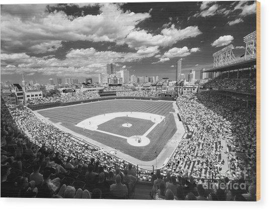 0416 Wrigley Field Chicago Wood Print