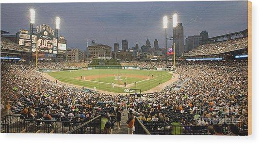 0555 Comerica Park Detroit Wood Print
