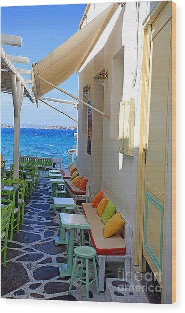 0560 Mykonos Greece Wood Print