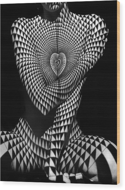 0622 Abstract Art Geometric Female Form  Wood Print
