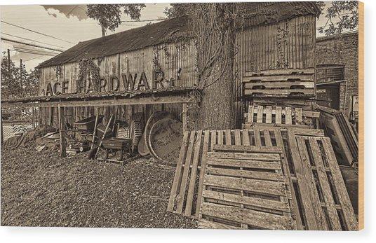 0653-155-bw Wood Print