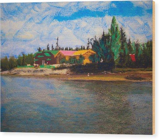 07152008 Chena River Alaska Wood Print