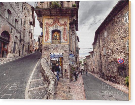 0801 Assisi Italy Wood Print