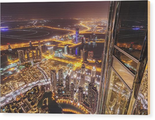124th Floor Wood Print