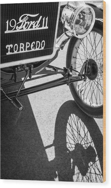 1911 Ford Model T Torpedo Grille Emblem Wood Print