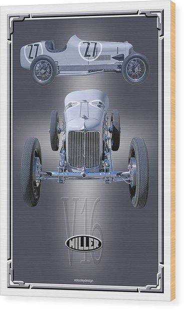 1932 Miller V16 Wood Print