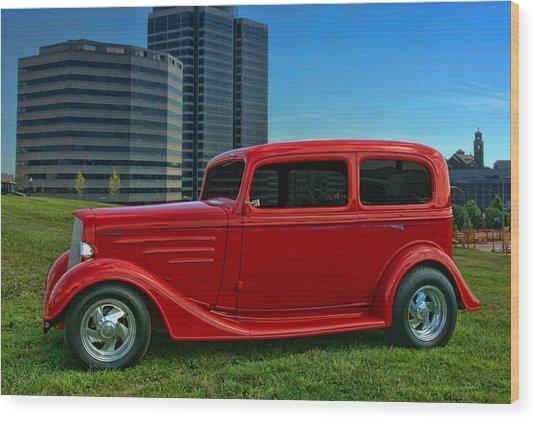 1934 Chevrolet Sedan Hot Rod Wood Print