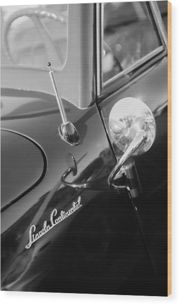 1941 Lincoln Continental Convertible Emblem Wood Print
