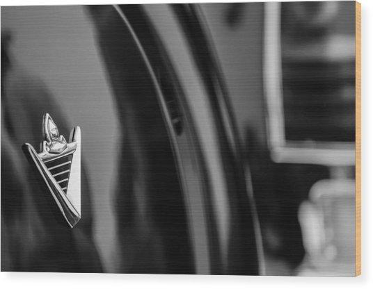 1950 Lincoln Cosmopolitan Henney Limousine Rear Emblem Wood Print