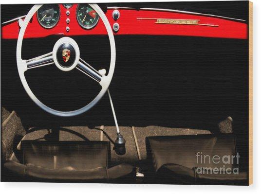 1954 Porsche Speedster  Wood Print by Steven Digman