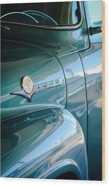 1956 Ford F-100 Truck Emblem Wood Print