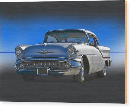 1957 Custom Oldsmobile Wood Print by Dave Koontz