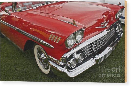 1958 Chevy Impala Wood Print