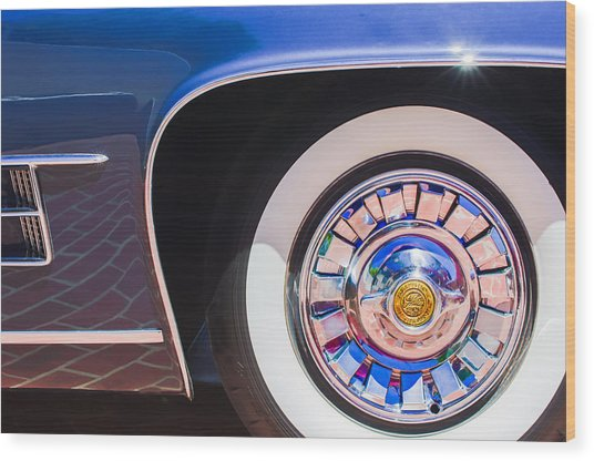 Wood Print featuring the photograph 1962 Ghia L6.5 Coupe Wheel Emblem by Jill Reger