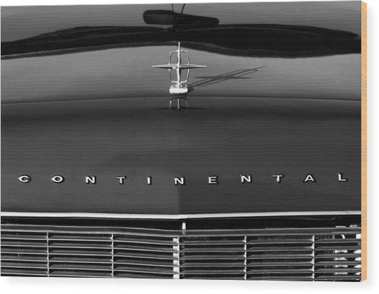 1967 Lincoln Continental Hood Ornament Grille Emblem Wood Print