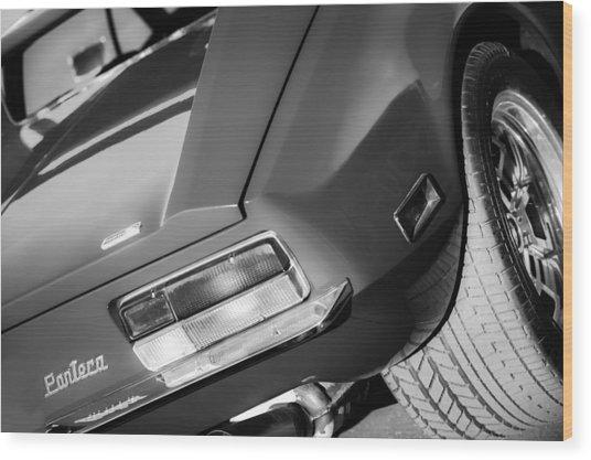1972 Detomaso Pantera Taillight Emblem Wood Print