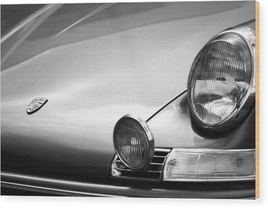 1972 Porsche 911s Hood Emblem Wood Print
