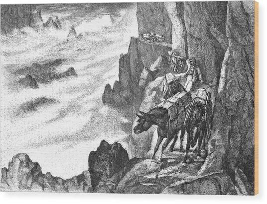 19th Century Smugglers Wood Print by Bildagentur-online/tschanz