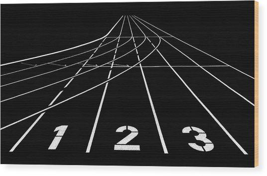 1 2 3 Wood Print by Hans Martin Doelz