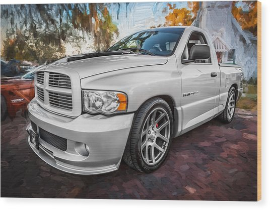 2004 Dodge Ram Srt 10 Viper Truck Painted Wood Print