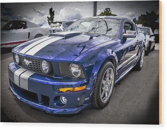 2008 Ford Shelby Mustang With The Roush Stage 2 Package Wood Print
