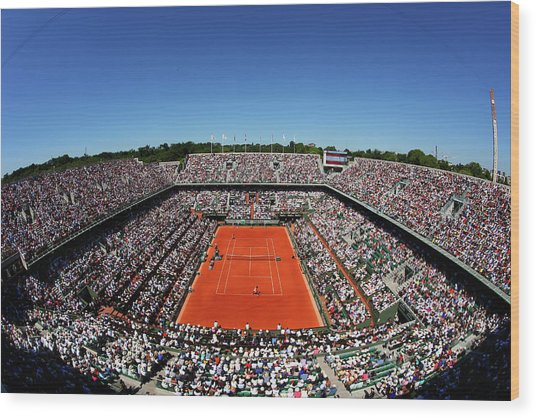 2015 French Open - Day Fourteen Wood Print by Clive Brunskill