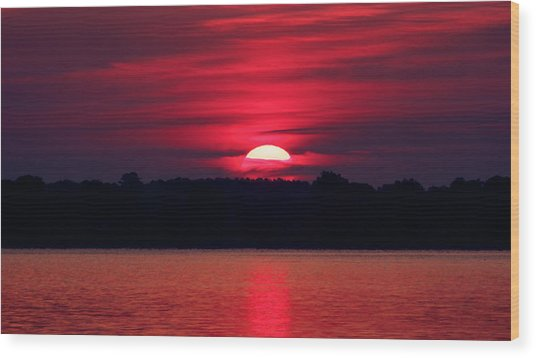 A Chesapeake Bay Sunrise Wood Print