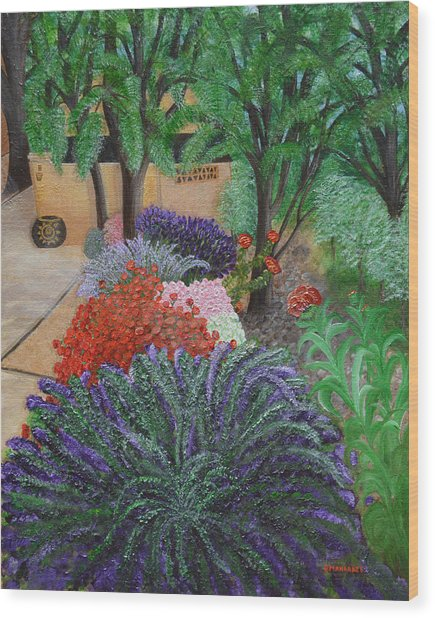 A Garden To Remember Wood Print