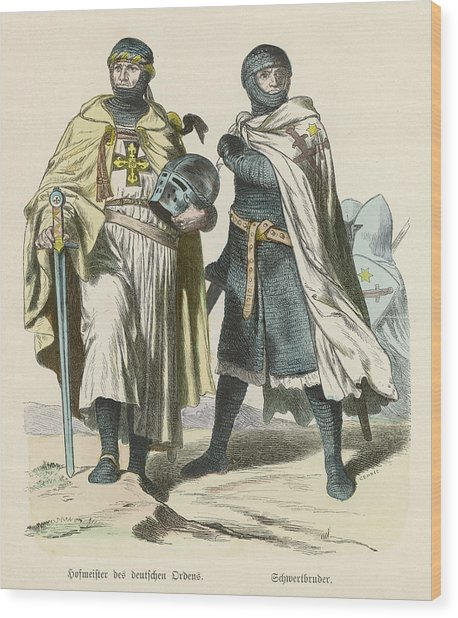 A Grand Master Of The Teutonic  Knights Wood Print by Mary Evans Picture Library