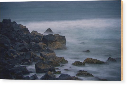 A Little Rocky Wood Print by Michael James