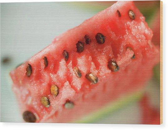A Piece Of Watermelon Wood Print