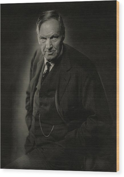 A Portrait Of Clarence Darrow Wood Print by Nickolas Muray