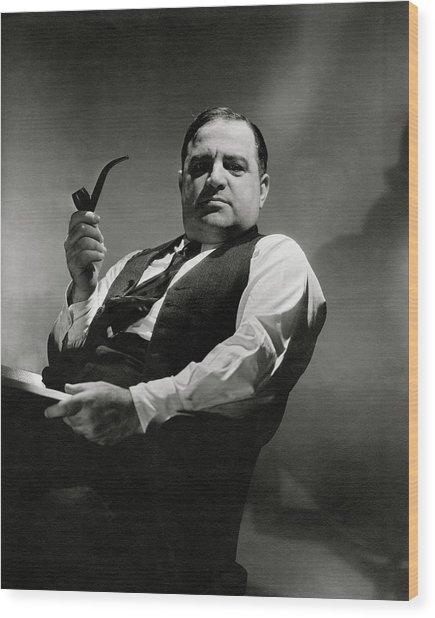 A Portrait Of Fiorello La Guardia Wood Print