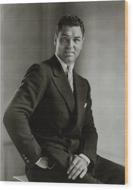 A Portrait Of Jack Dempsey Wood Print by Edward Steichen