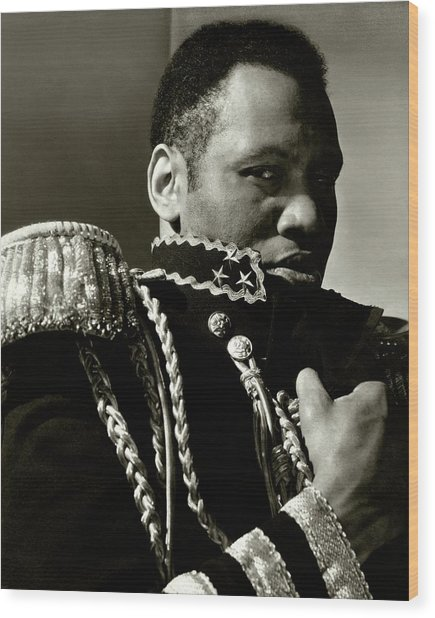 A Portrait Of Paul Robeson Wood Print