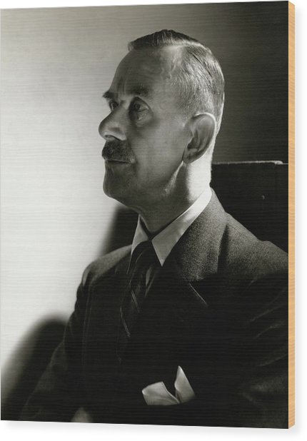 A Portrait Of Thomas Mann Wood Print