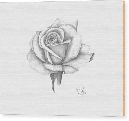 A Roses Beauty Wood Print