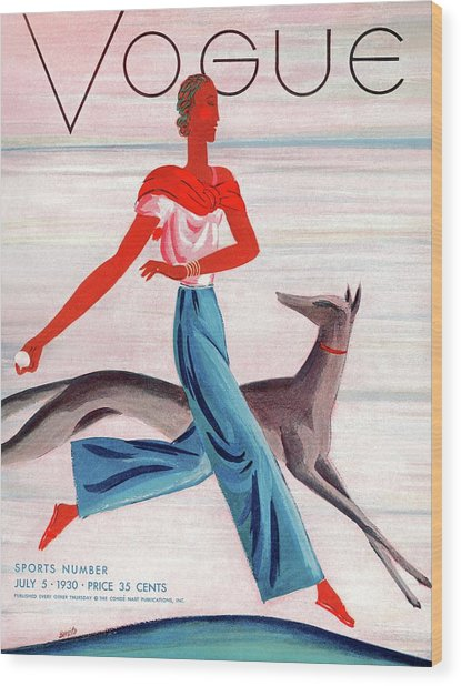 A Vintage Vogue Magazine Cover Of An African Wood Print