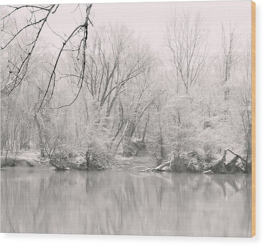 A Whisper Of Snow Wood Print