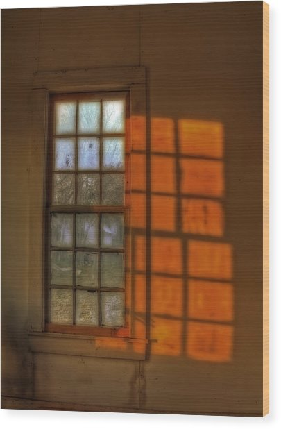 A Window Wood Print