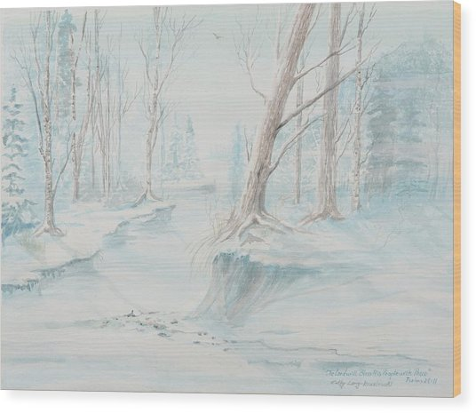 A Winter Path Wood Print